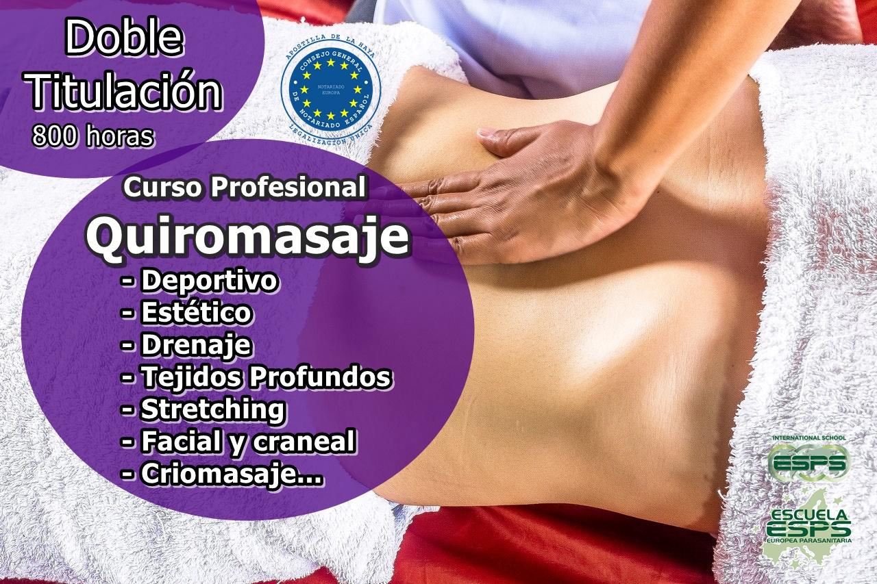 curso de masajista en Vigo profesional esps